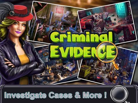 Criminal  Evidence:Hidden Objects Game screenshot 8