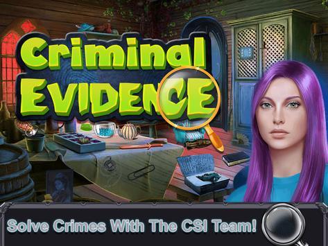 Criminal  Evidence:Hidden Objects Game screenshot 9