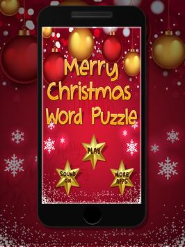 Merry Christmas Word Puzzle poster
