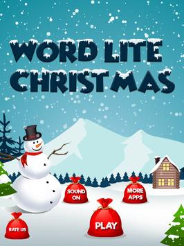 Word Lite Christmas poster