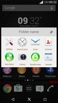 Xperia Black Theme apk screenshot