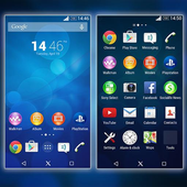 Xperia Blue Theme icon