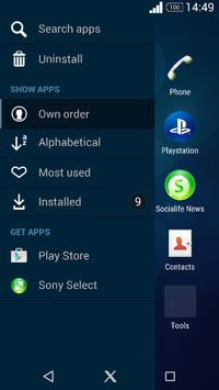 Xperia Blue Theme apk screenshot