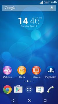Xperia Blue Theme poster