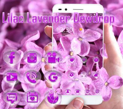 Lilac lavender dewdrop theme poster