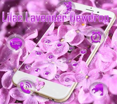 Lilac lavender dewdrop theme screenshot 1