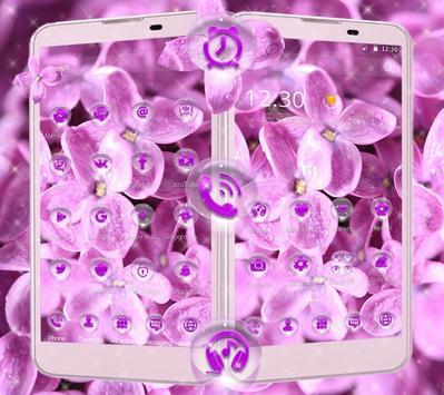 Lilac lavender dewdrop theme screenshot 2
