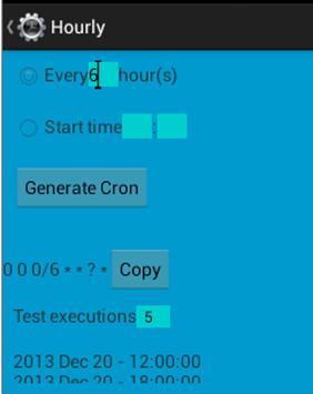 Cron Generator screenshot 1