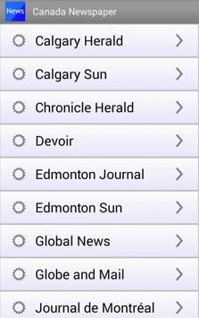 Canada Newspaper Canadian News apk screenshot