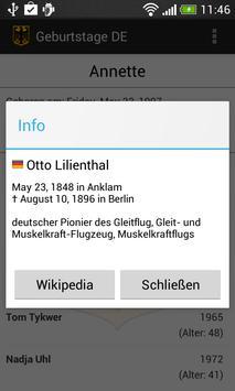 Geburtstage DE apk screenshot