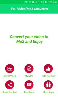 Full Video To Mp3 Converter poster