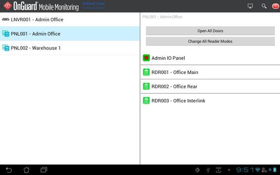 OnGuard Mobile Monitoring screenshot 1