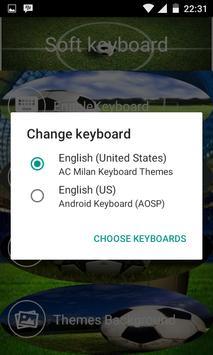 Milan keyboard theme apk screenshot