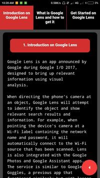 Guide for Google Lens App screenshot 1