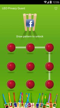 AppLock Theme - Cricket apk screenshot