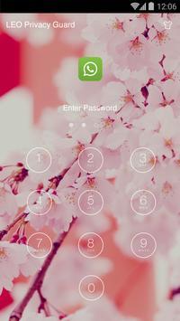 AppLock Theme - Sakura Theme screenshot 2