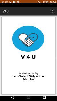 V4U - A Social Initiative poster