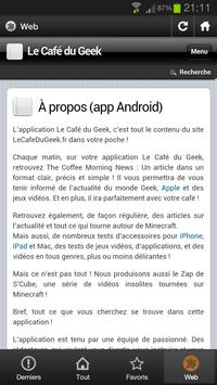 Le Café Du geek apk screenshot