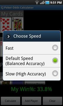 CJ Poker Odds Calculator apk screenshot