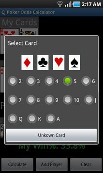 CJ Poker Odds Calculator poster