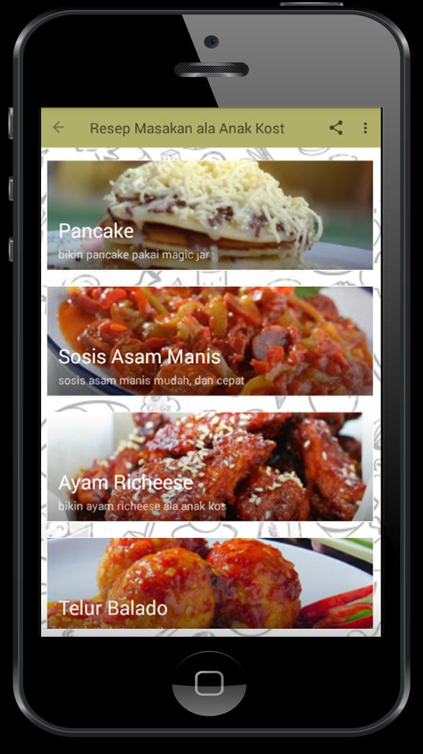 Resep Masakan Ala Anak Kost For Android Apk Download
