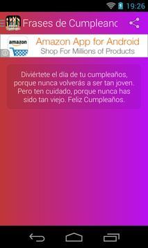 Frases de Cumpleaños apk screenshot