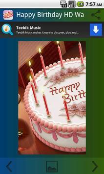 Happy Birthday HD Wallpaper poster