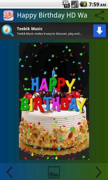 Happy Birthday HD Wallpaper apk screenshot