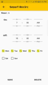 Smart Recirculation Control app screenshot 1