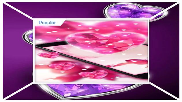 Pink Diamonds Live Wallpaper apk screenshot
