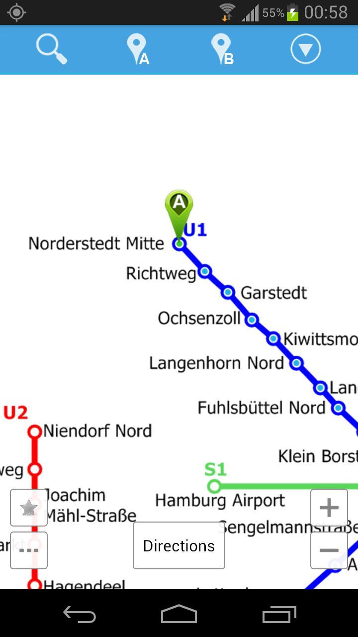 Hamburg Metro Map poster