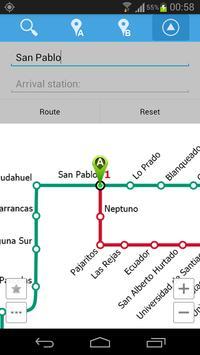 Santiago Metro Map screenshot 3