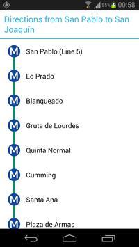 Santiago Metro Map screenshot 1