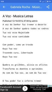 Gabriela Rocha Letras deMúsica apk screenshot