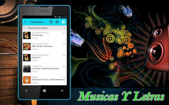 Caramelos De Cianuro Musica apk screenshot