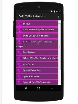 Paula Mattos Letras Canções apk screenshot