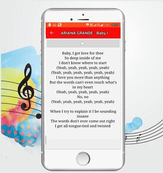 letras- ARIANA GRANDE screenshot 3