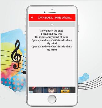 letras - ZAYN MALIK screenshot 1