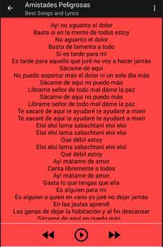 Amistades Peligrosas Musica apk screenshot