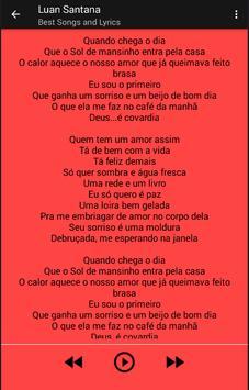 Luan Santana Musica y Letras apk screenshot