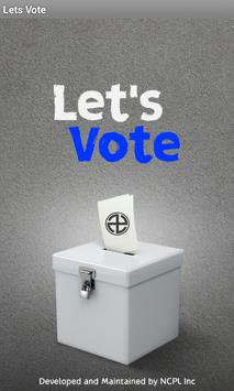 Letsvote poster
