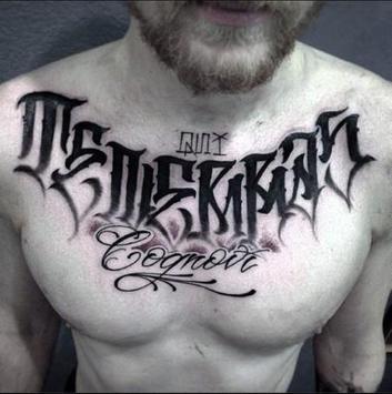 lettering tattoo apk screenshot