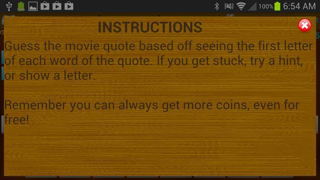 Letter Legends: Movie Quotes apk screenshot