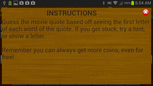 Letter Legends: Movie Quotes screenshot 2