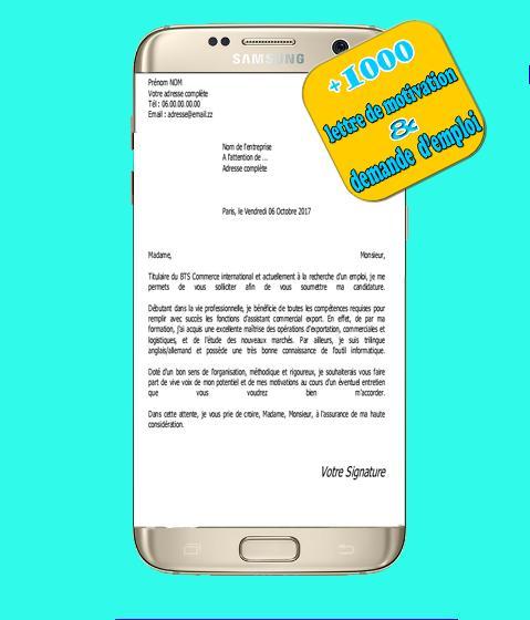 Exemple De Lettre Et Demande For Android Apk Download