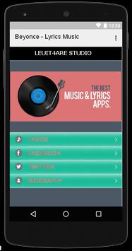 Beyonce - Lirik Music apk screenshot