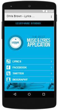 Chris Brown - Lyrics Music screenshot 2