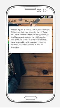 Freddie Aguilar Songs Lyrics. screenshot 1