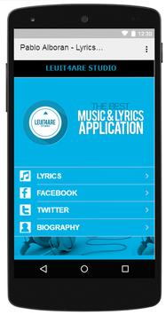 Pablo Alboran - Lyrics Music apk screenshot