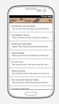 Preta Gil Songs Lyrics. screenshot 2